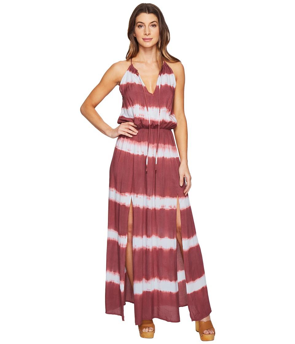 Culture Phit Emmalee Tie-Dye Maxi Dress with Slit (Blue/Mauve) Women