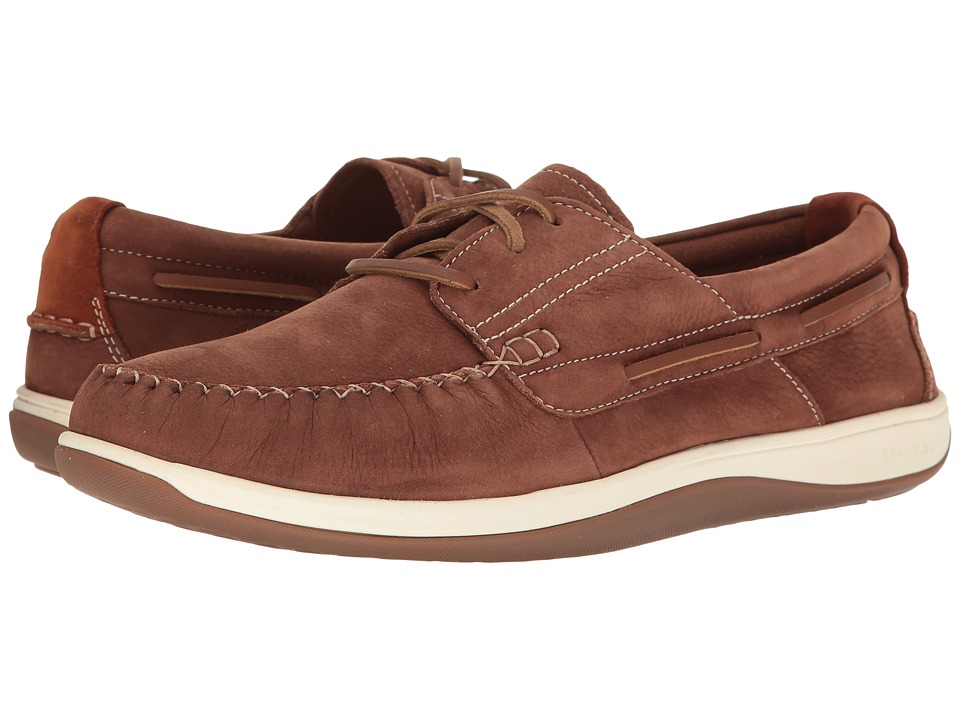 Cole Haan - Boothbay Boat Shoe (Harvest Brown Nubuck) Men's Lace up casual Shoes