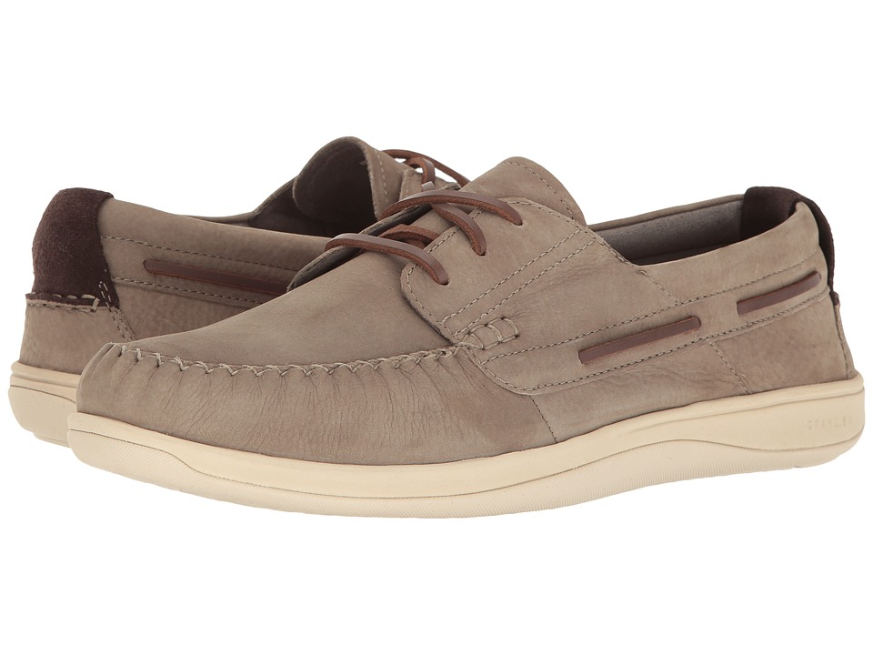 Cole Haan - Boothbay Boat Shoe (Sea Otter Nubuck) Men's Lace up casual Shoes