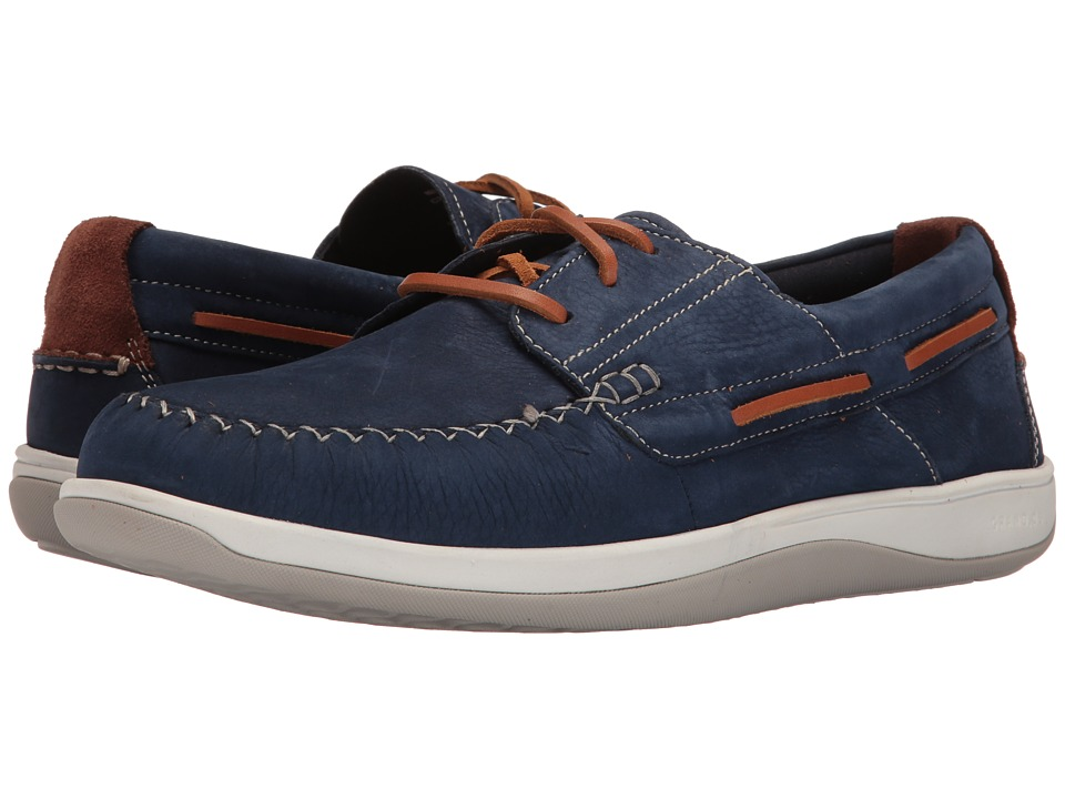 Cole Haan Boothbay Boat Shoe (Marine Blue Nubuck) Men