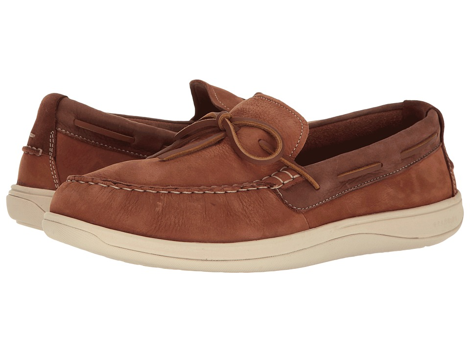 Cole Haan - Boothbay Camp Moccasin (Woodbury Nubuck) Men's Moccasin Shoes