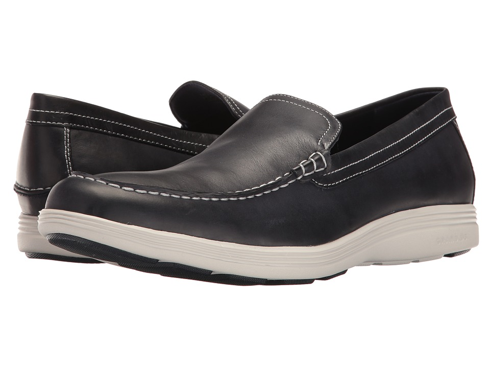 Cole Haan - Grand Tour Venetian (Navy Ink Leather/Vapor Grey) Men's Shoes