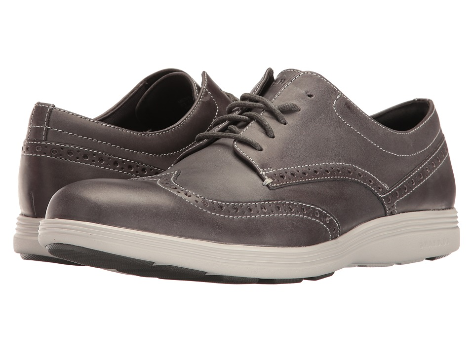 Cole Haan - Grand Tour Wing Oxford (Magnet Leather/Vapor Grey) Men's Lace up casual Shoes