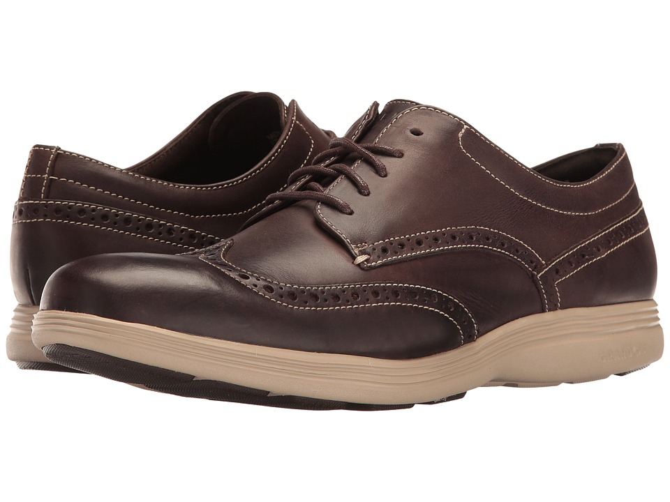 Cole Haan - Grand Tour Wing Oxford (Java Leather/Cobblestone) Men's Lace up casual Shoes