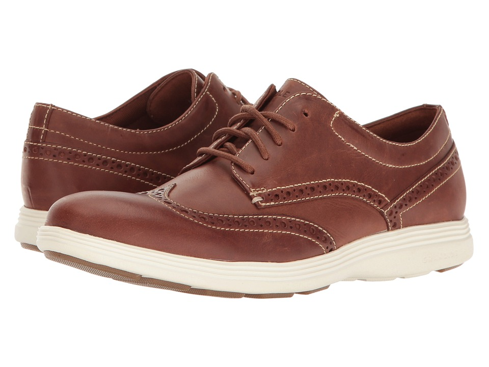 Cole Haan - Grand Tour Wing Oxford (Woodbury Leather/Ivory/Gum) Men's Lace up casual Shoes