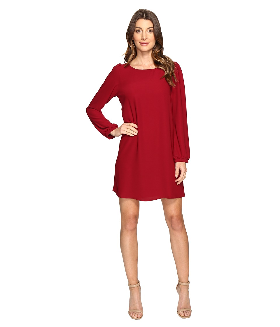 Brigitte Bailey Skyler Shift Dress (Burgundy 1) Women's Dress
