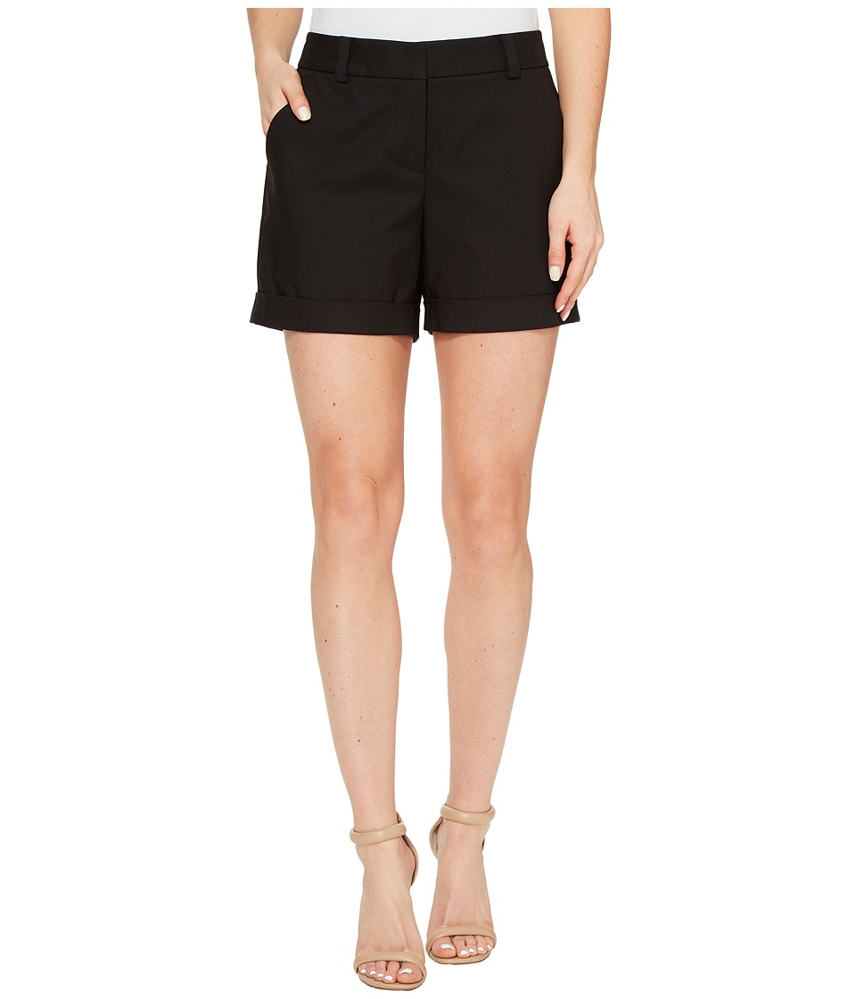 Vince Camuto - Doubleweave Cuffed Short (Rich Black) Women's Shorts