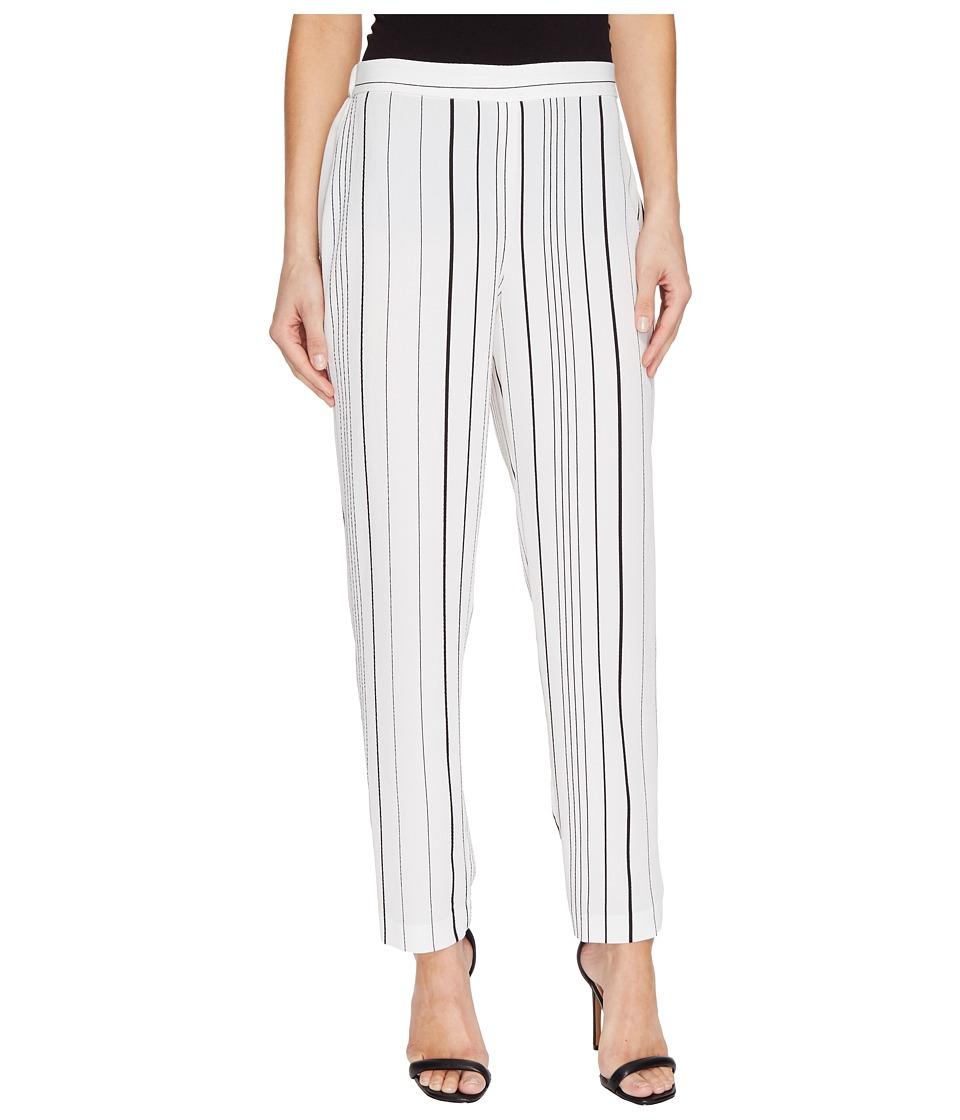 Vince Camuto - Pencil Stripe Slim Leg Pull-On Pants (New Ivory) Women's Casual Pants