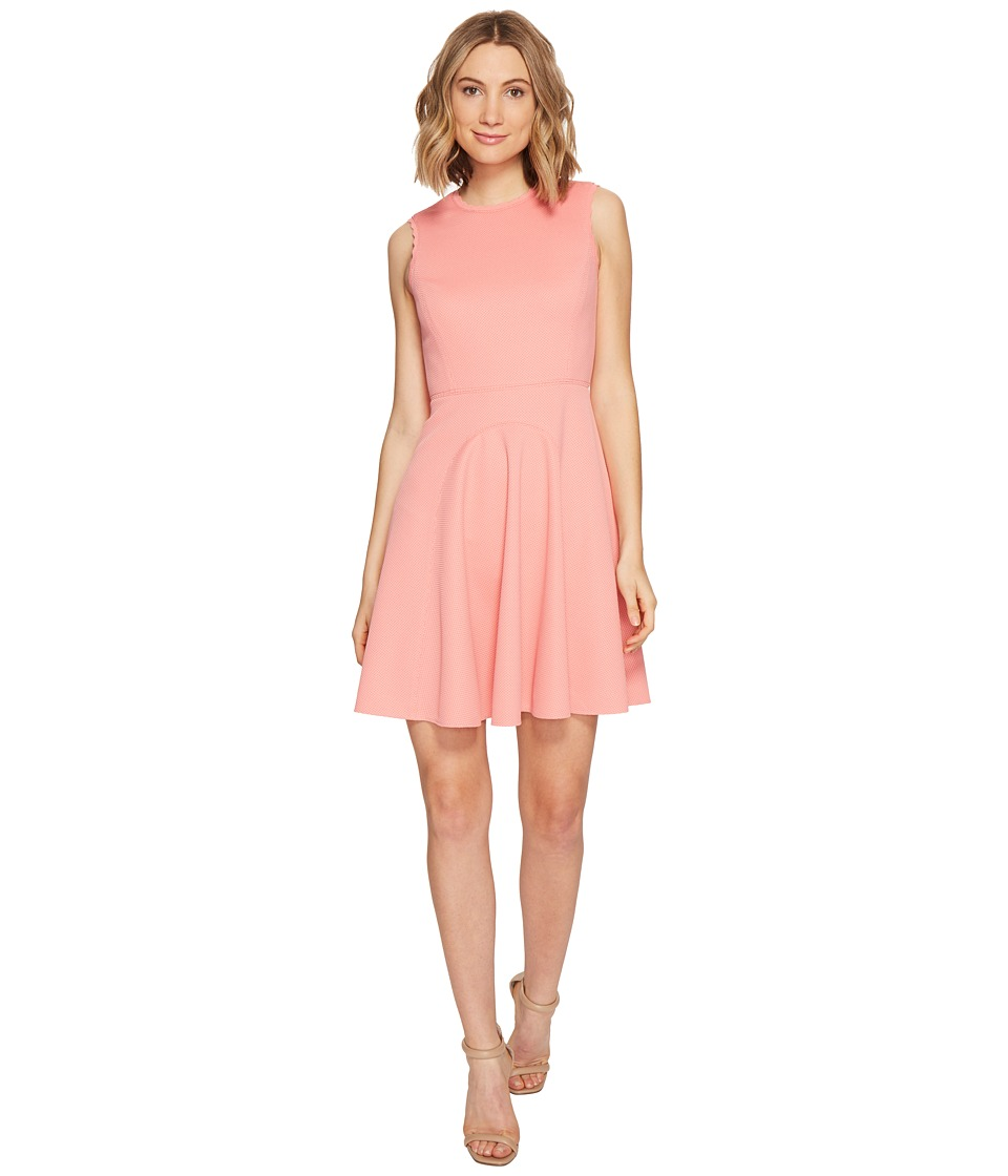 Rebecca Taylor - Sleeveless Stretch Texture Dress (Pink Grapefruit) Women's Dress