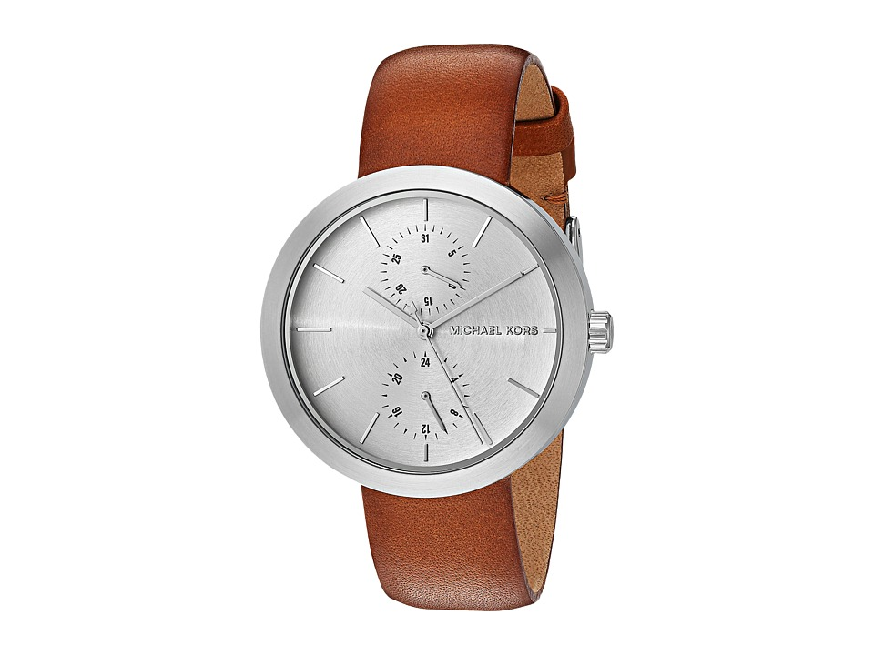 Michael Kors - MK2573 (Silver/Brown) Watches