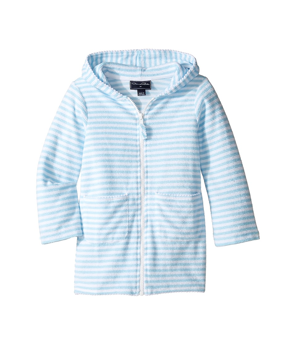 Oscar de la Renta Childrenswear - Terry Hooded Cover-Up (Toddler/Little Kids/Big Kids) (Turquoise) Girl's Swimwear