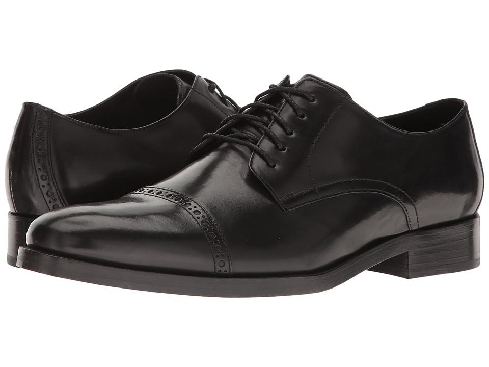 Cole Haan - Preston Grand Cap Ox (Black) Men's Plain Toe Shoes