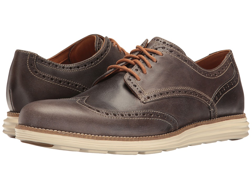 Cole Haan - Original Grand Wing Oxford (Sea Otter Leather/Ivory) Men's Lace up casual Shoes