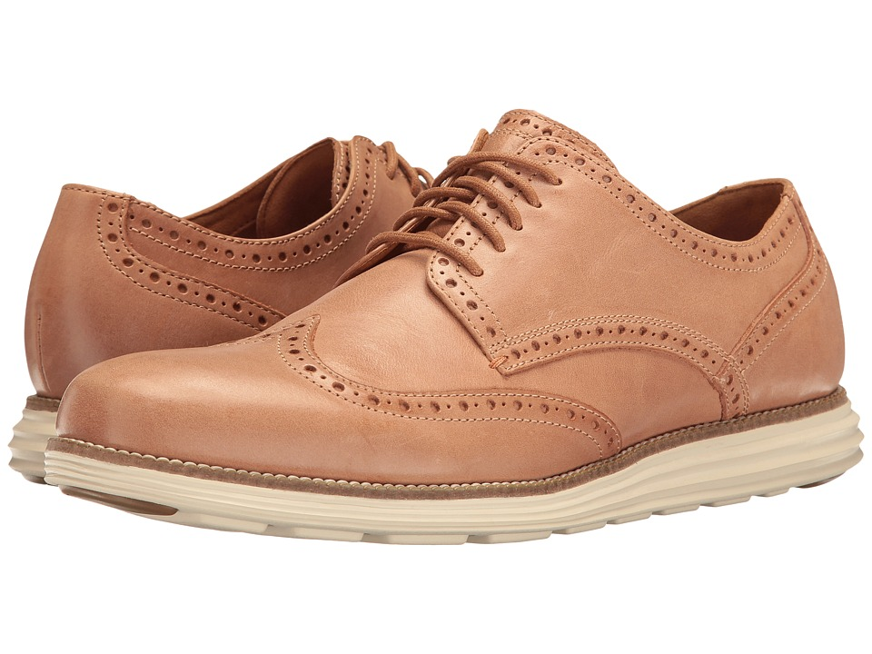 Cole Haan - Original Grand Wing Oxford (Vachetta Leather/Ivory) Men's Lace up casual Shoes