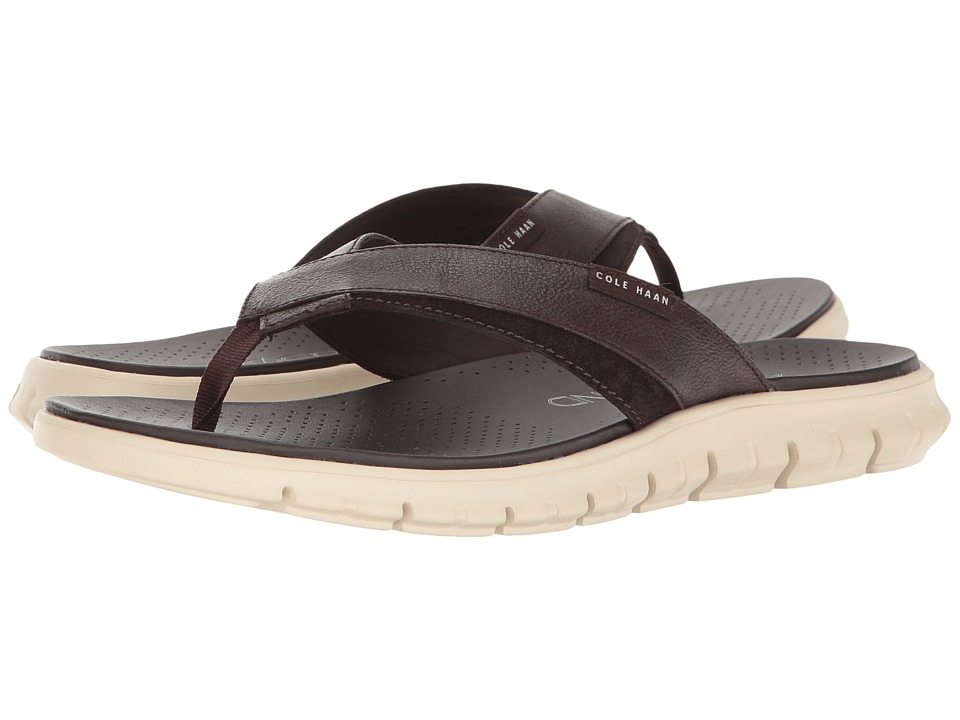 Cole Haan - Zerogrand Fold Thong (Java/Ivory) Men's Sandals