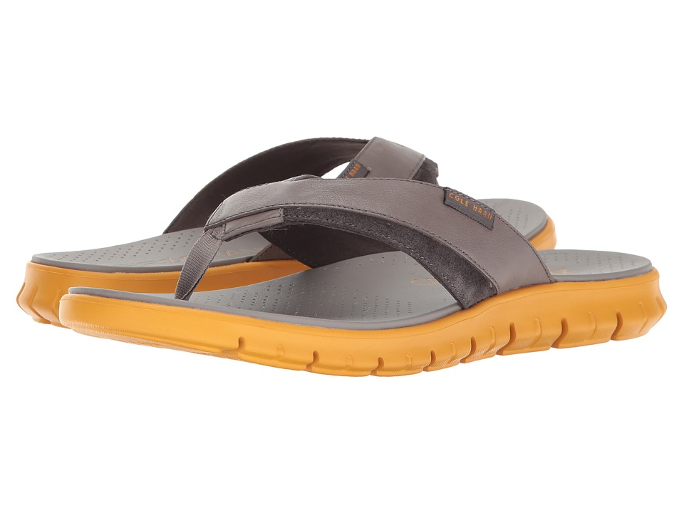 Cole Haan - Zerogrand Fold Thong (Ironstone/Sunglow) Men's Sandals