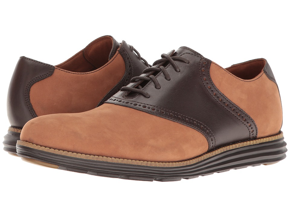 Cole Haan - Original Grand Saddle II (Woodbury Leather/Dark Roast) Men's Shoes