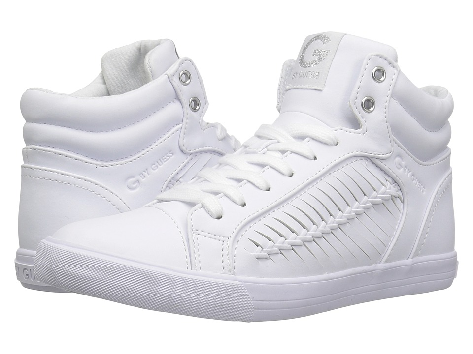 G by GUESS - Olisa (White Nappa PU) Women's Lace up casual Shoes
