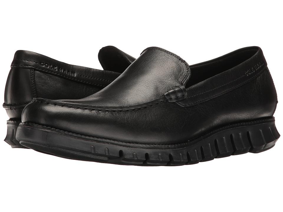 Cole Haan Zerogrand Venetian (Black Leather/Black) Men