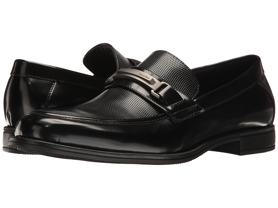 Calvin Klein - Aidan (Black Box Smooth) Men's Shoes