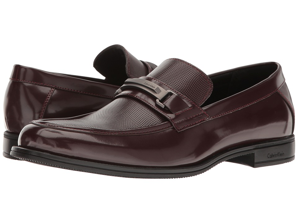 Calvin Klein - Aidan (Bordo Box Smooth) Men's Shoes
