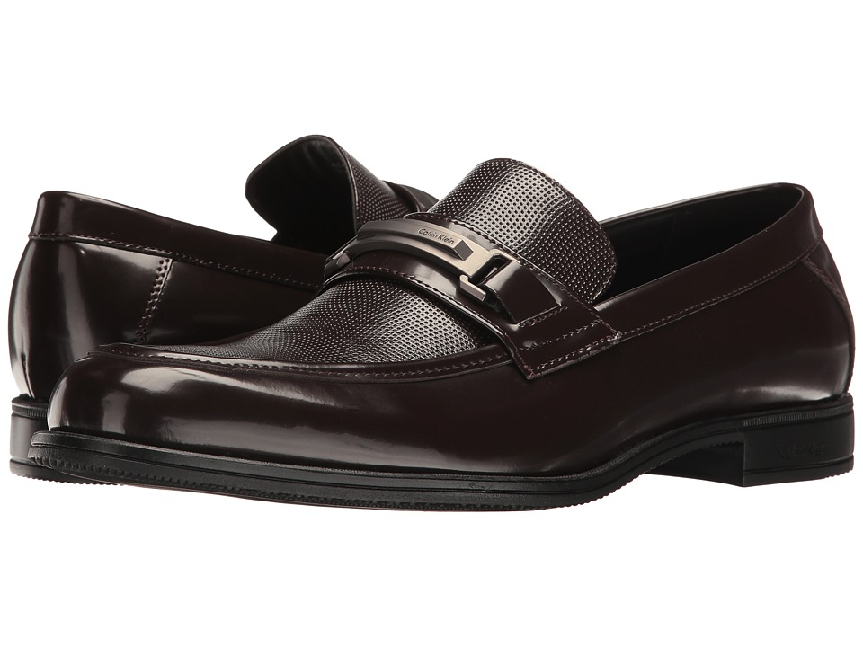 Calvin Klein - Aidan (Dark Brown Box Smooth) Men's Shoes