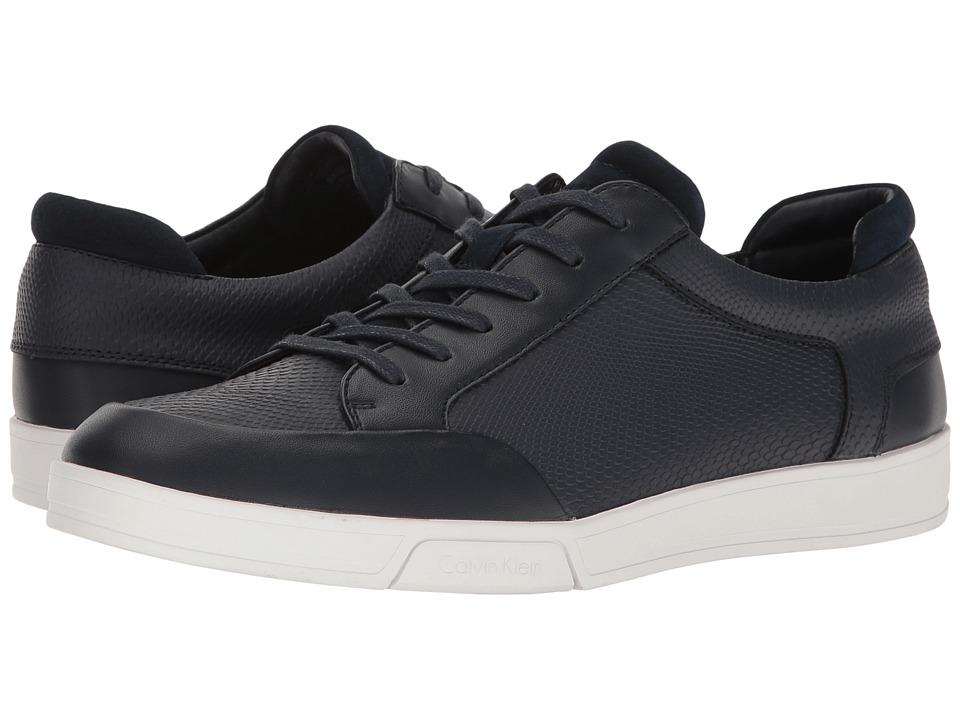Calvin Klein - Balin (Dark Navy Emossed Lea Calf Smooth) Men's Shoes