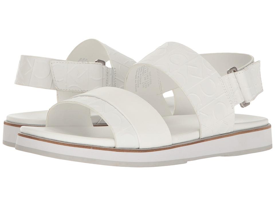 Calvin Klein Dex (White Emboss Leather) Men