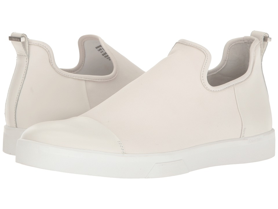 Calvin Klein - Innes (White Nappa) Men's Slip on Shoes