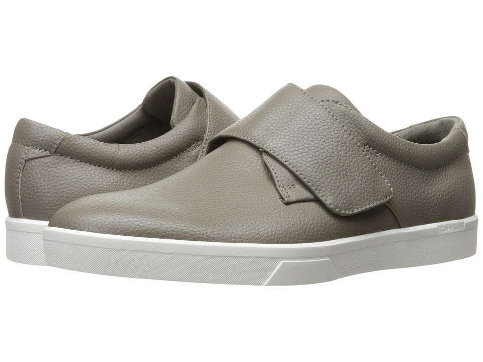 Calvin Klein - Iman (Toffee Tumbled Leather) Men's Hook and Loop Shoes