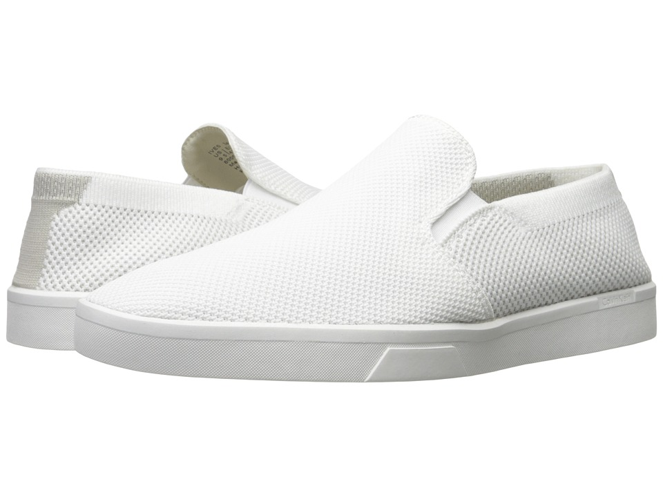 Calvin Klein - Ives (White Knit Weave) Men's Slip on Shoes