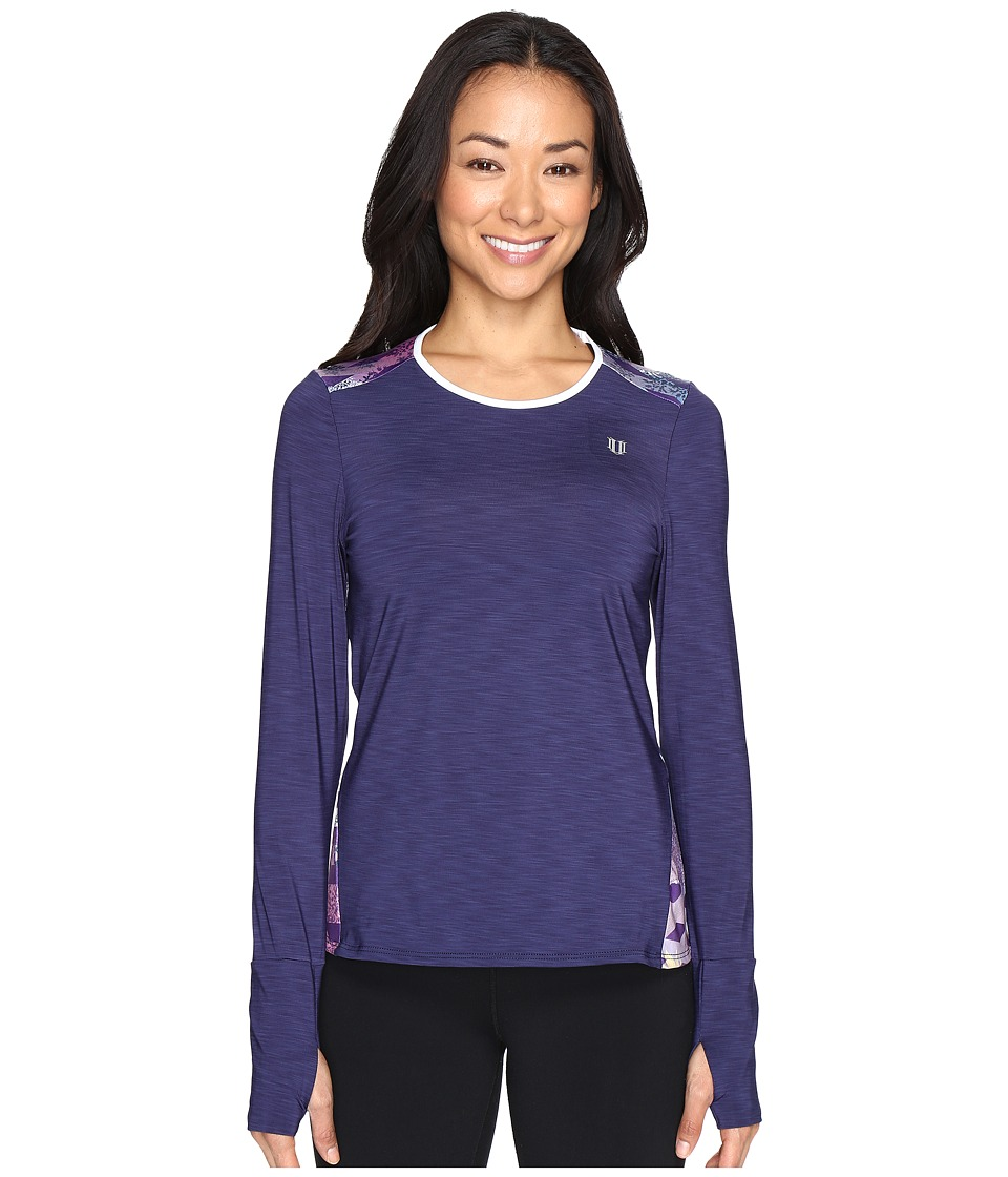 Eleven by Venus Williams - Thika Xtreme Long Sleeve (Blue Nights) Women's Long Sleeve Pullover