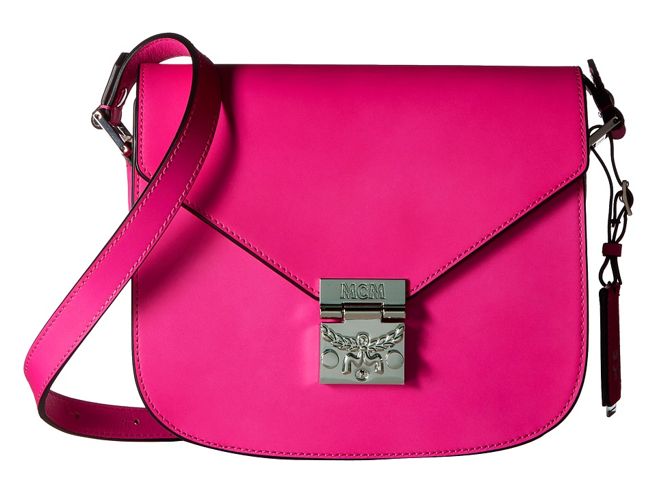 MCM - Patricia Small Shoulder (Electric Pink) Shoulder Handbags