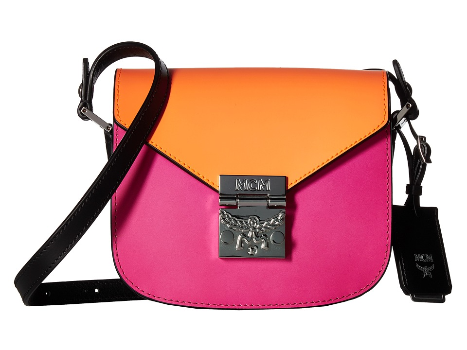 MCM - Patricia Mini Shoulder (Atomic Orange/Electric Pink) Shoulder Handbags