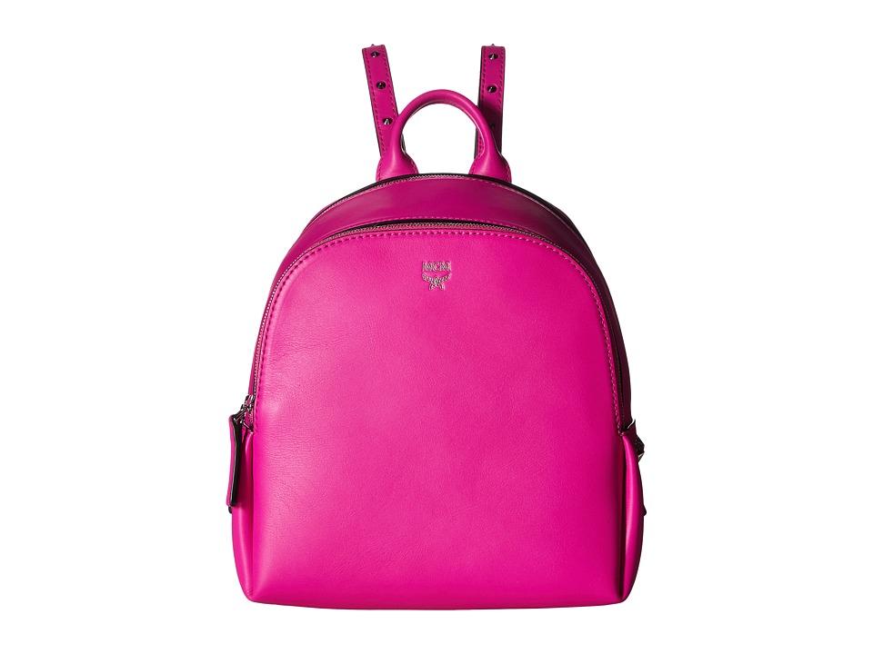 MCM - Polke Studs Mini Backpack (Electric Pink) Backpack Bags