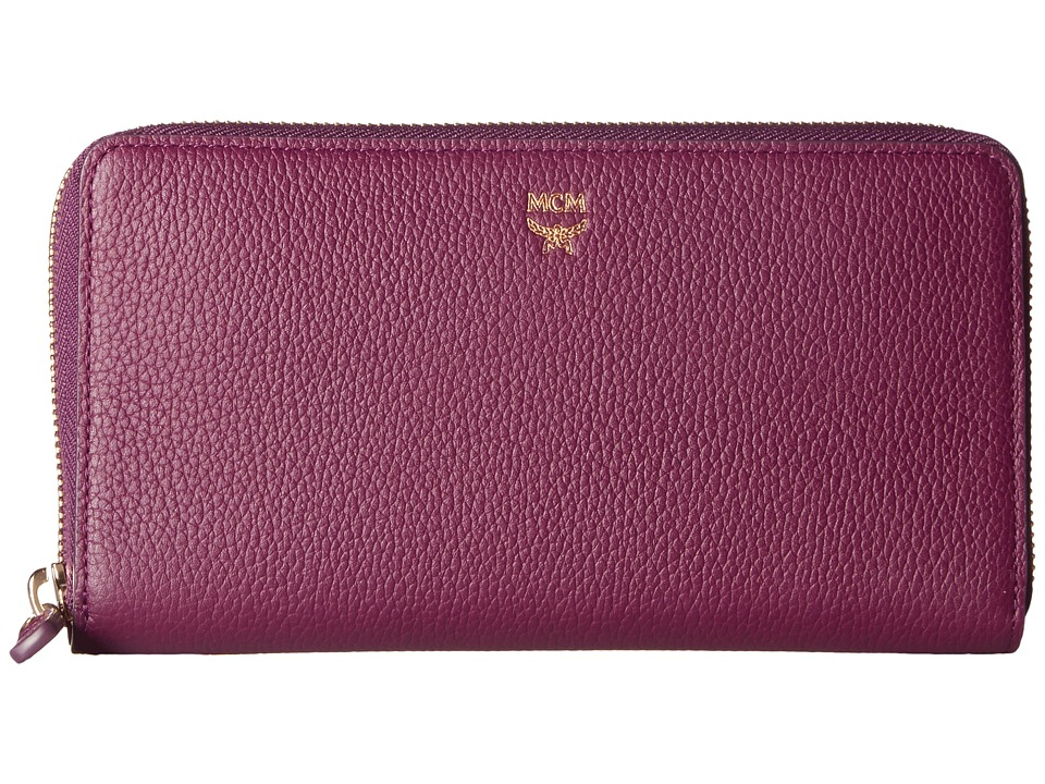 MCM - Milla Large Zip Around Wallet (Mystic Purple) Wallet Handbags