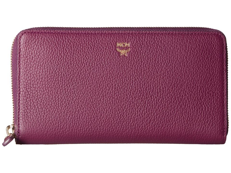 MCM - Milla Large Zip Around Wallet (Mystic Purple) Wallet Handbags