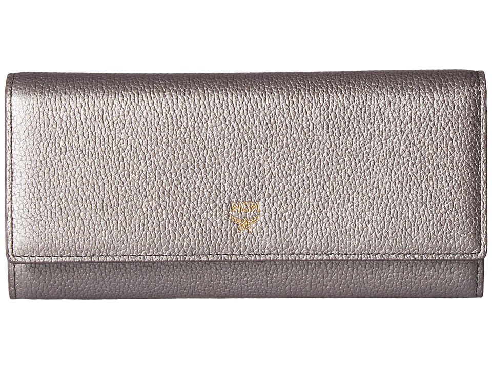 MCM - Milla Large Three Fold Wallet (Spike Silver) Wallet Handbags