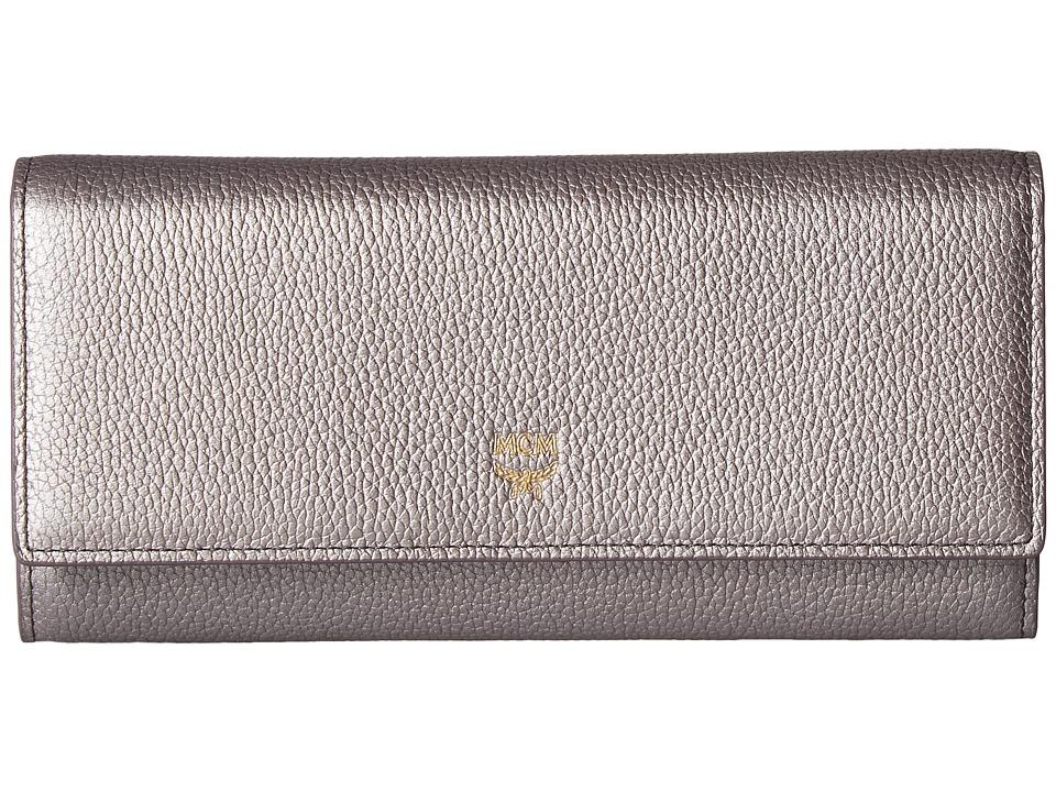 MCM - Milla Large Three Fold Wallet (Spike Silver) Wallet Handbags