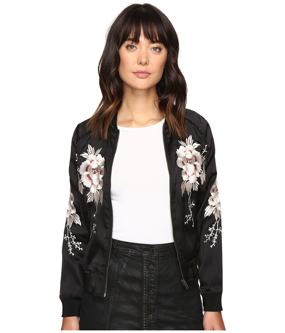 Lucky Brand - Bird Bomber Jacket (Lucky Black) Women's Coat