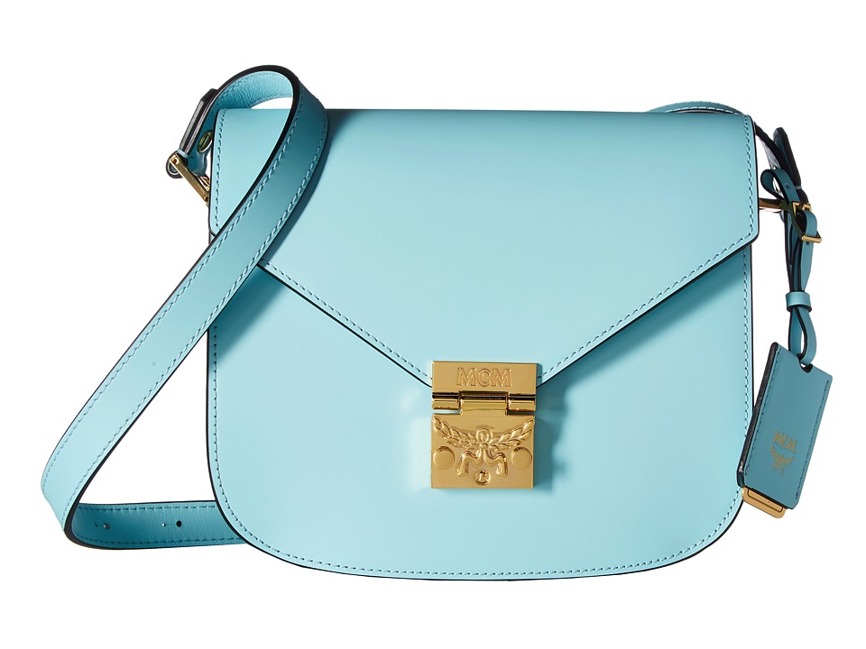 MCM - Patricia Small Shoulder (Liquid Blue) Shoulder Handbags