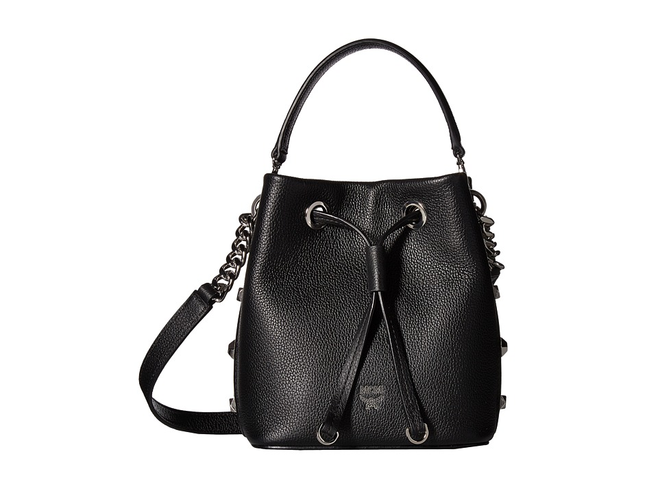 MCM - Catherine Mini Drawstring (Black) Drawstring Handbags