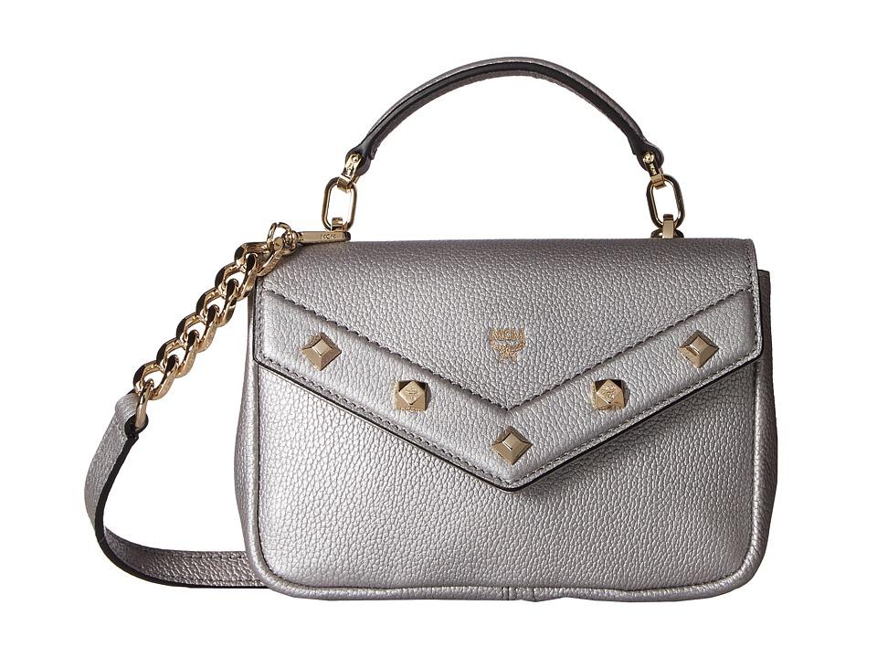 MCM - Catherine Mini Shoulder (Spike Silver) Shoulder Handbags