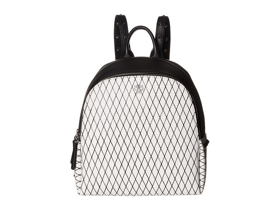 MCM - Polke Rombi Mini Backpack (White Flake) Backpack Bags