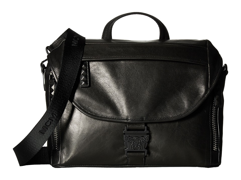 MCM - Killian Leather Medium Messenger (Black) Messenger Bags