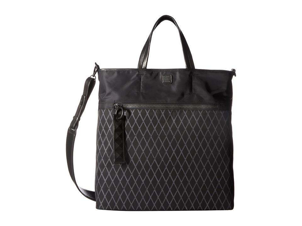 MCM - Tumbler Rombi Nylon Large Tote (Black) Tote Handbags