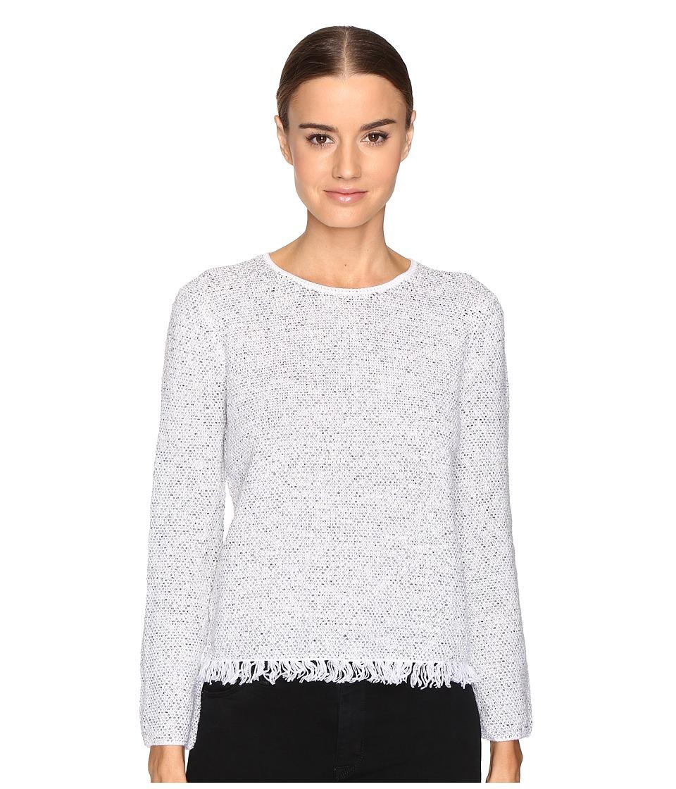 Theory - Vendala Inlay Tweed Sweater (White Mix) Women's Sweater