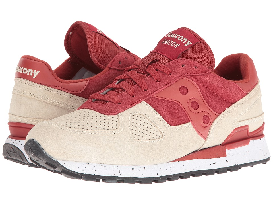 Saucony Originals - Shadow Original (Light Tan/Red) Men's Lace up casual Shoes