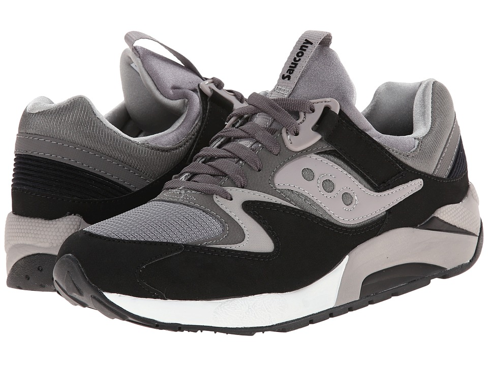 Saucony Originals - Grid 9000 (Grey/Black) Men's Shoes