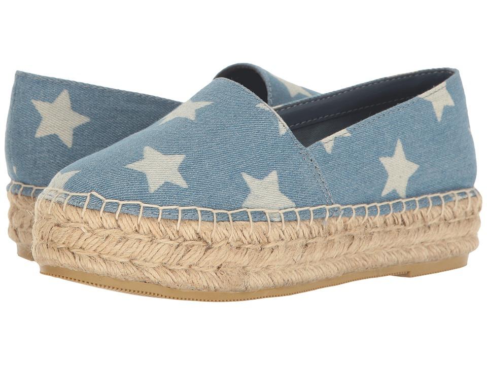Steve Madden Talan Blue Multi Womens Slip on  Shoes